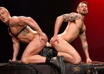 """Johnny V and Chris Harder flip-fuck in """"Labyrinth"""" part 4 from Raging Stallion"""