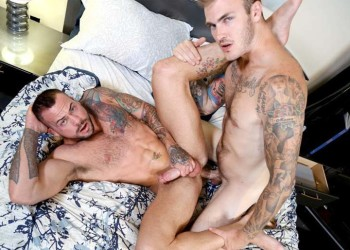"Inked bottom Sean Duran gets fucked by Christian Wilde in ""More Than He Bargained For"""
