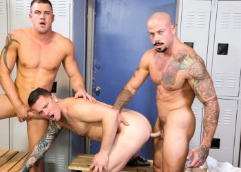 Darin Silvers, Sean Duran and Max Cameron in a super hot threeway at Pride Studios