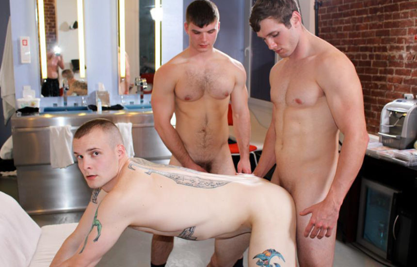 Ivan James, Colton Phobos and John in an incredibly hot Active Duty threesome