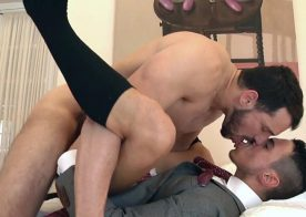 """Enzo Rimenez pounds Klein Kerr's ass in """"The Stalker"""" from Men At Play"""