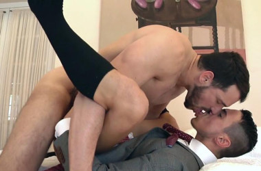 "Enzo Rimenez pounds Klein Kerr's ass in ""The Stalker"" from Men At Play"