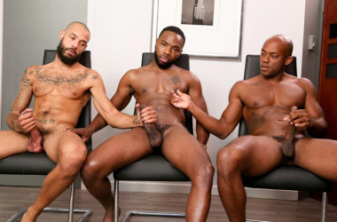 "Bam Bam, Osiris Blade and Dylan Henri in ""Card Decks and Hard Dicks"" From Next Door World"