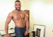 Sexy body builder Damian shows off and jerks off at Next Door World
