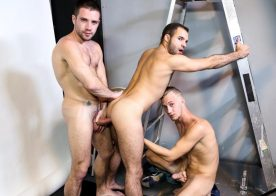 "Braxton Smith, Dylan Smith and Luke Wilde have a hot sex in ""Acrobatic Menage"" from Pride Studios"