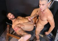 """Trey Turner bottoms for Alex Greene in """"Can't host, where can we fuck?!"""" from Pride Studios"""