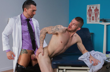 "Jimmy Durano fucks Tryp Bates in ""Doc's Orders"" part one from Hot House"