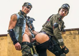 """Dario Beck takes Paddy O'Brian's thick cock in """"Apocalypse"""" part three from Men.com"""