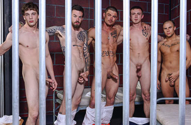 Zane Anders, Sebastian Young, Eli Hunter, Donny Forza & Rocko South fuck at Bromo