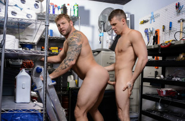 "Darin Silvers fucks Colby Jansen in ""Janitor's Closet"" part three from Men.com"
