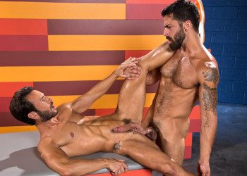 "Adam Ramzi tops Mark Sanz in ""Hot As Fuck' part two from Raging Stallion"