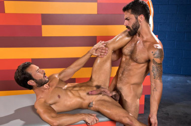 """Adam Ramzi tops Mark Sanz in """"Hot As Fuck' part two from Raging Stallion"""