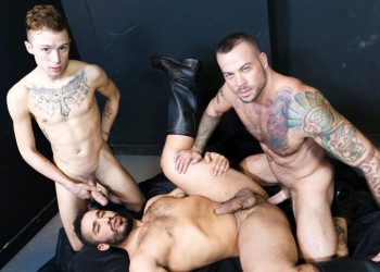 "Trey Turner, Sean Duran and Sean Christopher in ""The Big Dick Club"" part 2 from Pride Studios"