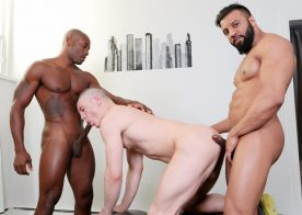Osiris Blade, Caleb King and Damian Flexxx have a hot threesome at Next Door World