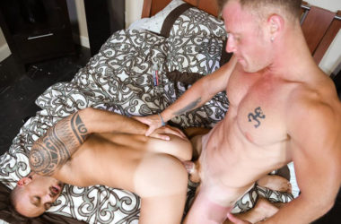 Saxon West gives Kirk Cummings's ass some much needed attention at Pride Studios