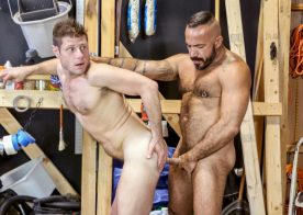 "Alessio Romero fucks Luke Ewing in ""Maintenance Fuckers"" part one from Pride Studios"