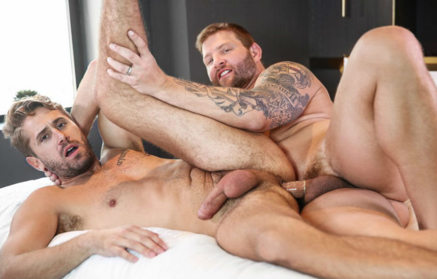 "Colby Jansen pounds Wesley Woods in ""Spymaster"" part two from Men.com"