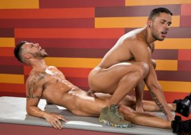 """Fit power top FX Rios fucks Max Gianni in """"Hot As Fuck"""" part 4 from Raging Stallion"""