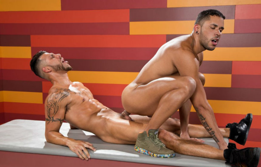 "Fit power top FX Rios fucks Max Gianni in ""Hot As Fuck"" part 4 from Raging Stallion"