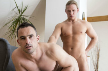 Andy West bottoms for Julius Taylor in a hot bareback video from Randy Blue