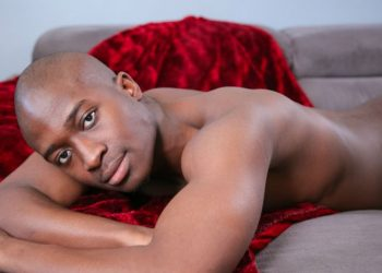 Athletic black stud Kareem Williams gets naked and jerks off for Next Door World