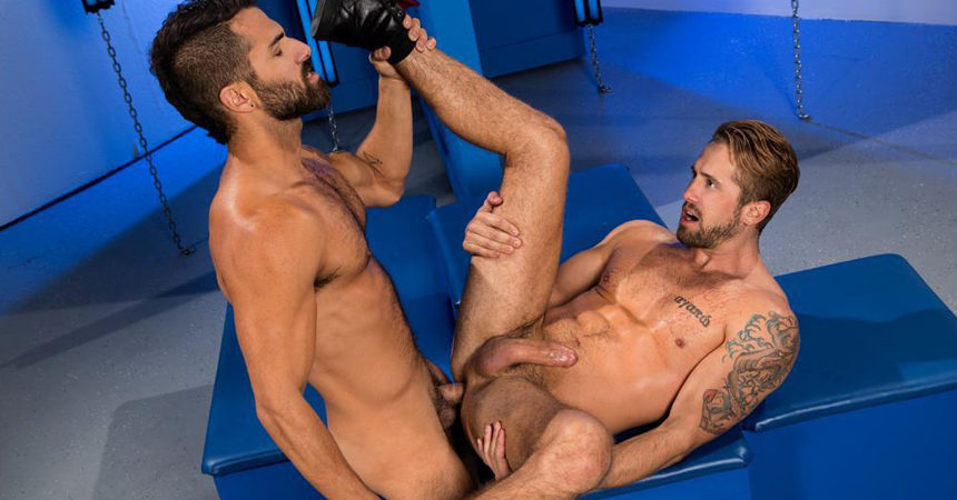 "Adam Ramzi and Wesley Woods fuck each other in ""I'd Hit That!"" from Raging Stallion"