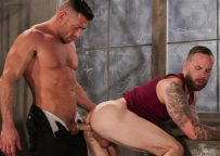 """Chris Bines and Bruce Beckham flip-fuck in """"Cruising Grounds"""" part three from Hot House"""