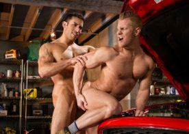 """Ricky Decker pounds Johnny V's hole in """"Drive Shaft"""" part two from Raging Stallion"""