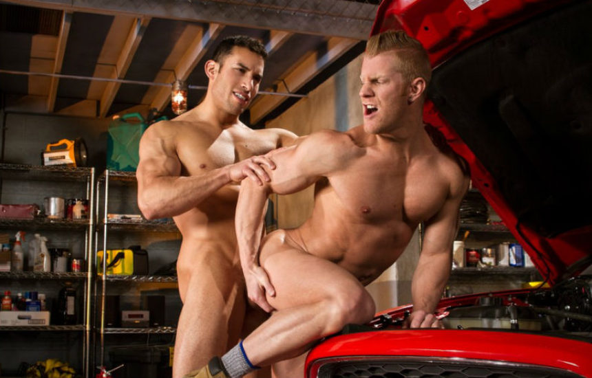 "Ricky Decker pounds Johnny V's hole in ""Drive Shaft"" part two from Raging Stallion"