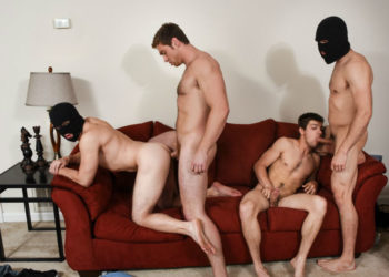 "Johnny Rapid, Will Braun, Jason Maddox and Connor Maguire fuck in ""Stealing Johnny"" part three"