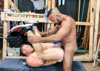 """Saxon West and Alessio Romero flip-fuck in """"Maintenance Fuckers"""" part two from Pride Studios"""