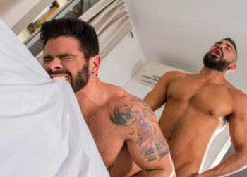 "Gabriel Taurus pounds Mario Domenech in ""Men of Madrid"" part one from Raging Stallion"