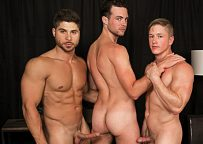 """Brandon Moore, Chris Blades and Fabio Acconi fuck in """"Raw Obsession"""" part 4 from Bromo"""