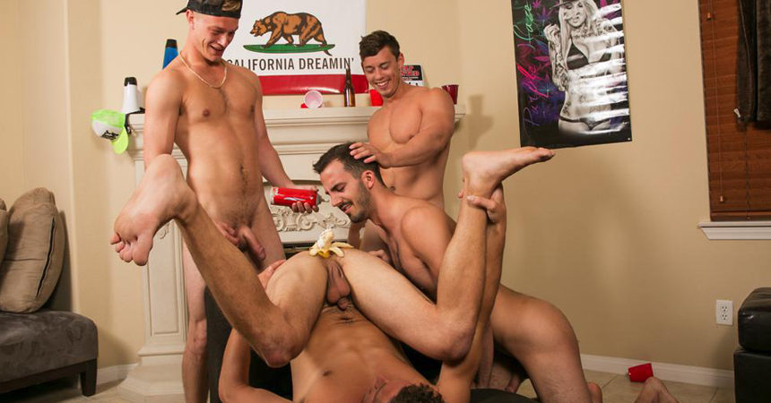 Horny frat guys shove their big raw dicks deep inside newbies' asses at Reality Dudes