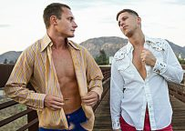 """Brian Huggins gets fucked by Roman Todd in """"Bareback Cruising"""" part 1 from Bromo.com"""