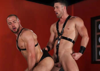"""Ryan Rose gives Brendan Phillips a deep pounding in """"Slicked Up"""" part 3 from Hot House"""