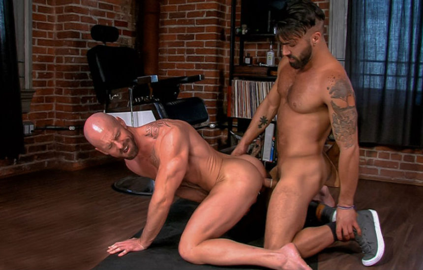 "Adam Ramzi fucks ripped Mitch Vaughn in ""Beards"" scene 3 from Titan Men"