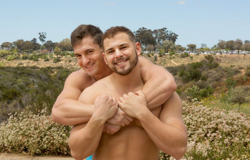 Beefy studs Kellin and Joey fuck bareback for Sean Cody