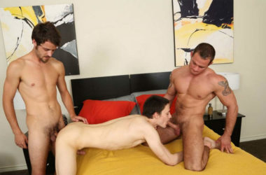 Antonio Cervone, Cooper Reed and Jeremiah in a bareback threesome for Chaosmen