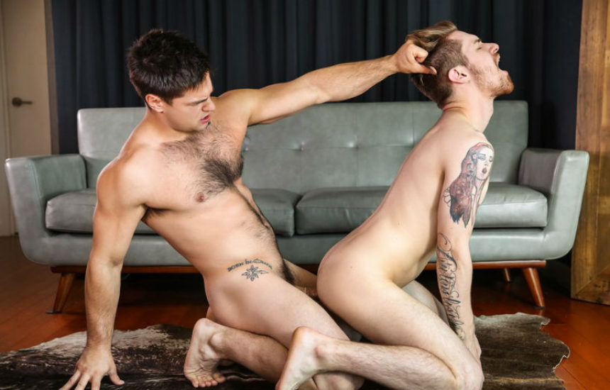 "Zak Bishop bottoms for Aspen in ""Shut up and Fuck Me Hard"" from Men.com"