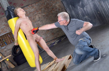 Cute Chris Jansen takes a beating from master Sebastian Kane at Boynapped