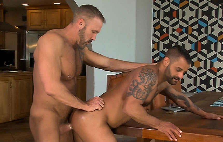 "David Benjamin bottoms for hot daddy Dallas Steele in ""Rent"" part two from Titan Men"
