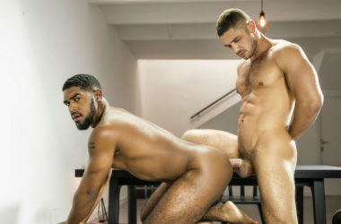 "Hot muscle top Dato Foland pounds XL in ""Discover"" from Men.com"
