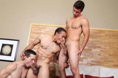 Santino and Gerard tag-team Wren in a hot Chaosmen threesome