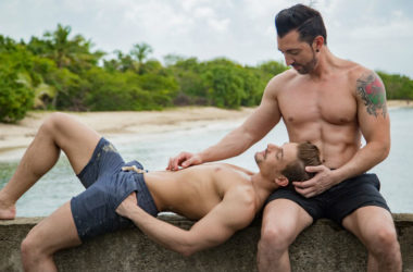 """Carter Dane and Jimmy Durano in """"Just Love: A Pornstars Guide to Sexual Freedom"""""""