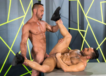 "Myles Landon fucks Bruno Bernal in ""Dicklicious"" part two from Raging Stallion"