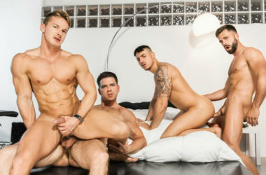 "Paddy O'Brian & Hector De Silva fuck Klein Kerr & Darius Ferdynand in ""The Weekend Away"" part 3"