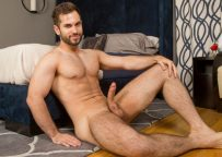 Furry muscle jock Vincent in his very first solo for Sean Cody