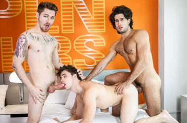 "Zak Bishop and Diego Sans fuck Will Braun in ""Sharing My Boyfriend"" from Men.com"