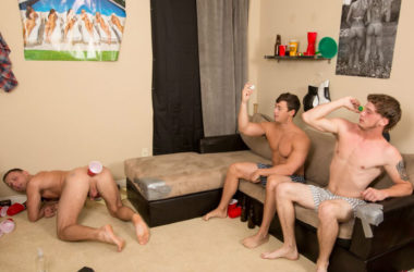 """Horny frat boys play """"Butt Pong"""" for Reality Dudes network site Dick Dorm"""